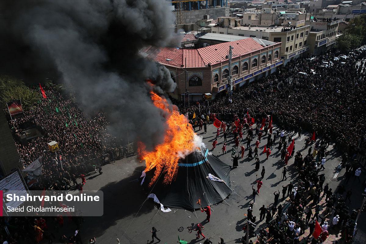 چهارراه گلوبندک تهران در عصر عاشورا