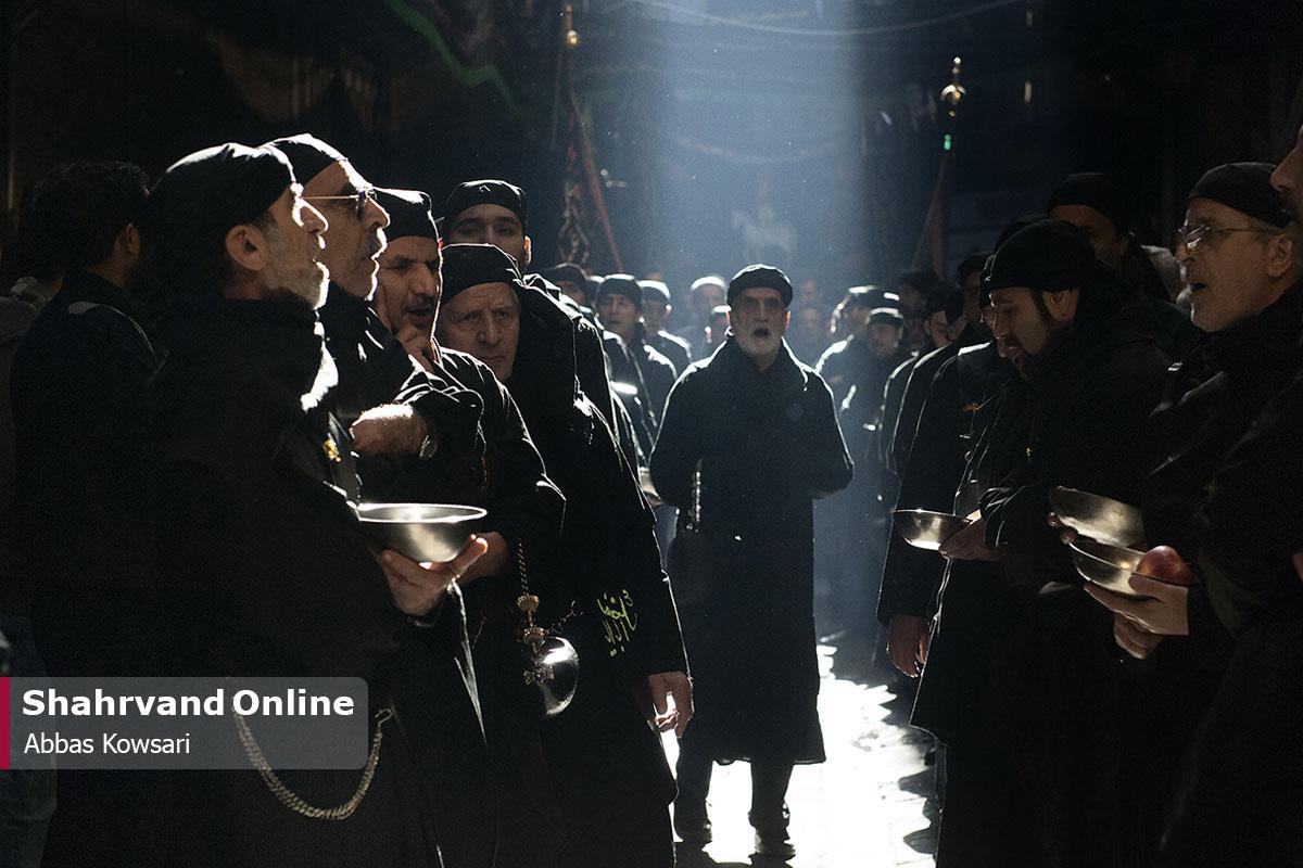 دسته عزاداری اردبیلیها در بازار تهران