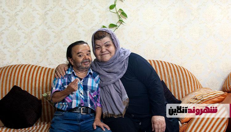 اسدالله یکتا و همسرش